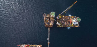World's Largest Crane Vessels Meet for Removal of North Sea Platform