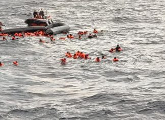 """At least 57 people from various African countries including Nigeria, Ghana and Gambia drowned on Monday after a boat capsized off the Libyan coast near Khums, the latest tragedy in the Mediterranean where more than 1,100 have perished this year. The International Organization for Migration (IOM) said Bodies have not been recovered from the shipwreck. """"According to survivors brought to shore by fishermen and the coast guard, at least 20 women and two children were among those who drowned,"""" IOM spokeswoman Safa Msehli tweeted. She said the migrants, the majority from West Africa, departed from Khums, presumably to reach Europe. """"Despite an increase in arrivals in Europe, there is no crisis of numbers and arrivals remain manageable through better solidarity and improved governance and management of migration,"""" she said. Migrant boat departures to Italy and other parts of Europe from Libya and Tunisia have increased in recent months with better weather. Hundreds of thousands have made the perilous crossing in the last years, many fleeing conflict and poverty in Africa and the Middle East."""