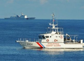 Philippine Coastguard Leads Chinese Ship From South China Sea Zone